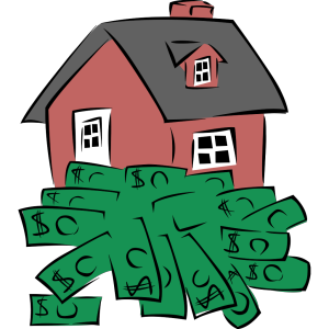 House Sitting On A Pile Of Money icon png