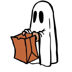 Ghost With Bag Colour icon png