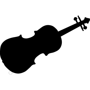 Violin Silhouette icon png