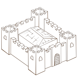 Ugly Non Perspective Cartoony Fort Fortress Stronghold Or Castle icon png