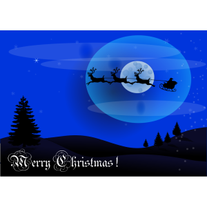 Xmas Card Reindeer Wagon Santa icon png