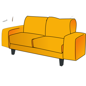 Soft Blue Couch icon png