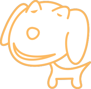 Dog Simple Drawing icon png