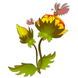 Bee And Flower icon png
