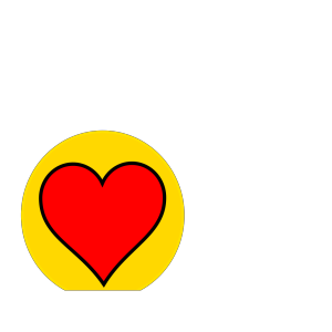 American Flag Heart icon png