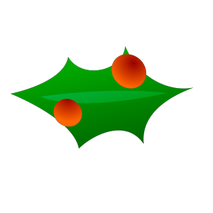 Christmas Leaf Decoration icon png