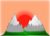 Sunset Behind Mountains icon png