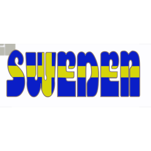 Swedish Flag In The Word Sweden icon png