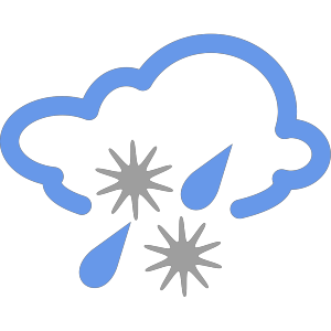 Hail And Rain Weather Symbol icon png
