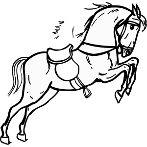 Jumping Horse Outline icon png