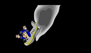 Sea Plane Black icon png