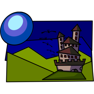 Cartoon Castle icon png