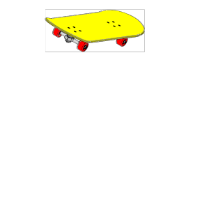 Skateboarding Stickman Clipart icon png