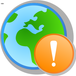 Globe Exclamation icon png