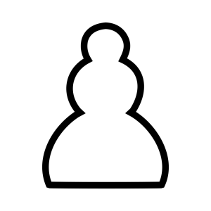 Chess White Pawn Piece icon png