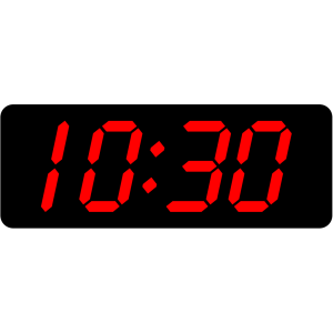 Digital Clock 10:30 icon png