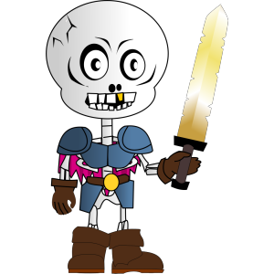 Skeleton Holding Sword icon png