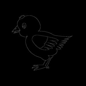 Chicken 002 Vector Coloring icon png