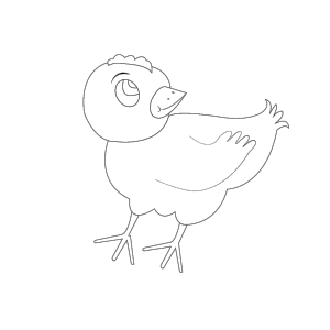 Chicken 001 Vector Coloring icon png