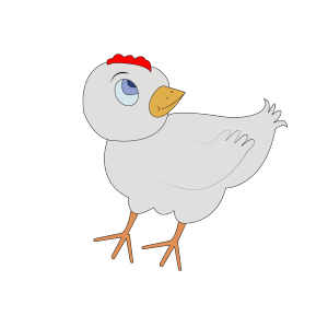 Chicken-001-figure-color icon png