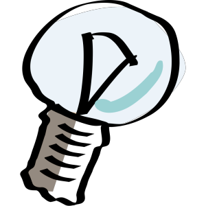 Cartoon Light Bulb icon png