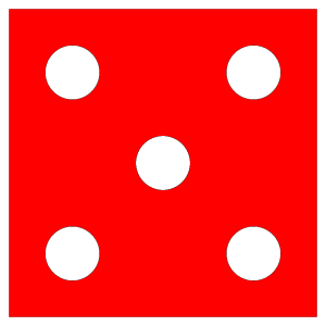 Red Die 5 icon png