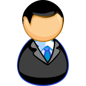 Teacher / Manager Between Chair And Desk icon png