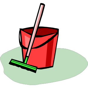 Bucket And Mop icon png