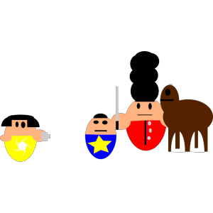 Cartoon Queen Guard icon png