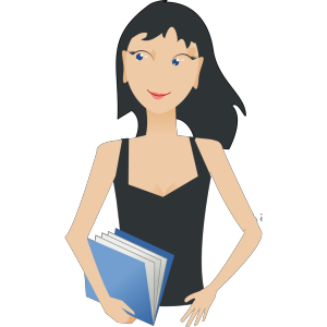 Student - Girl With Book icon png