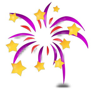 Cartoon Fireworks icon png