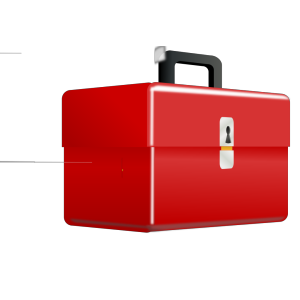 Red Metal Tool Box icon png