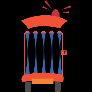 Cartoon Jail Car icon png