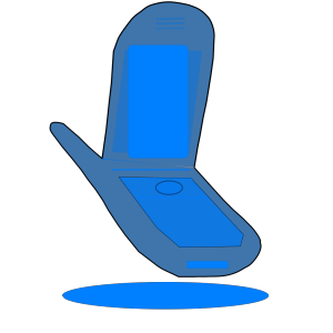 Blue Cell Phone icon png