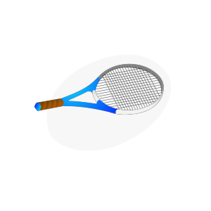 Horizontal Tennis Racquet icon png