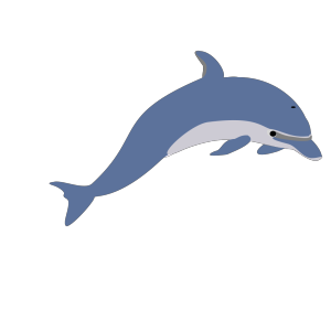 Dolphin Tattoo Style icon png