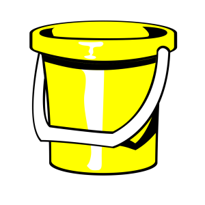 Yellow Bucket icon png