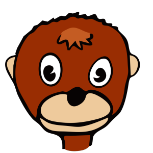Cartoon Monkey Face icon png