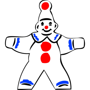 Simple Clown Figure icon png