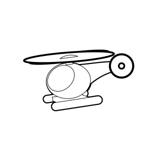 Cartoon Helicopter Outline icon png