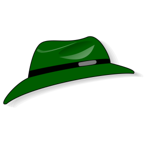 Green Fedora icon png