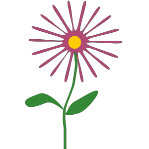 Whimsical Pink Flower icon png