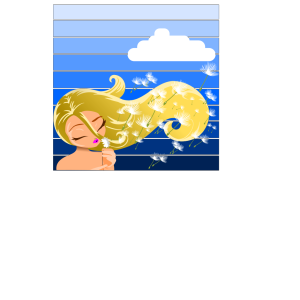 Girl Blowing A Dandelion icon png
