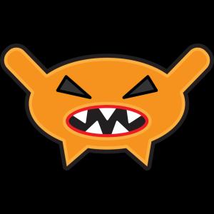 Orange Cartoon Monster icon png