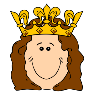 Cartoon Queen Crown icon png
