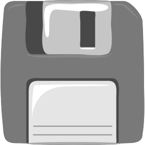Cartoon Floppy Disk icon png