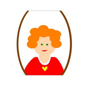 Red Head Girl Cartoon icon png