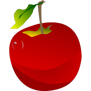 Cartoon Apple icon png