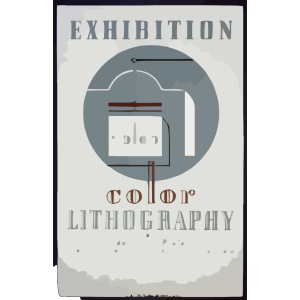 Exhibition Color Lithography By Federal Art Project Work Projects Administration icon png