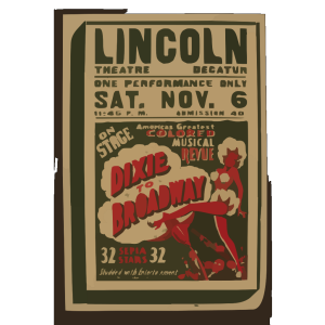 On Stage America S Greatest Colored Musical Revue  Dixie To Broadway  icon png